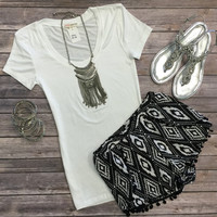 Tribal Side Shorts