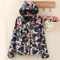 :Vans :winter coat and jacket tide brand BF camouflage couple charge M5 locomotive