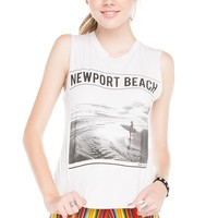 Brandy ♥ Melville |  Raisa Newport Beach Tank - Graphics