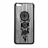 Hipster Vintage Black Dreamcatcher On Gray Wood iPhone 5c Case