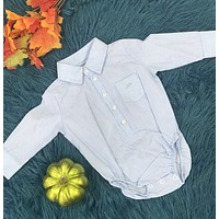 Stephan Baby Blue & White Western Onesuit