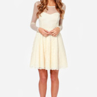 Cherish You Cream Lace Dress