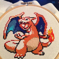 Custom Pokemon Cross Stitch 6""