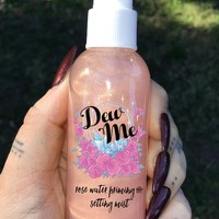 """DEW ME"" Rose Water Priming and Setting Mist – Glow Cult Cosmetics"