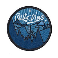 Asilda Store Out to Live Glow in the Dark Outdoor Embroidered Sew or Iron-on Patch
