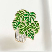 The Good Twin Monstera Pin | Urban Outfitters