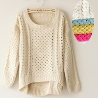 Vintage grandmother knitted sweater-EMS
