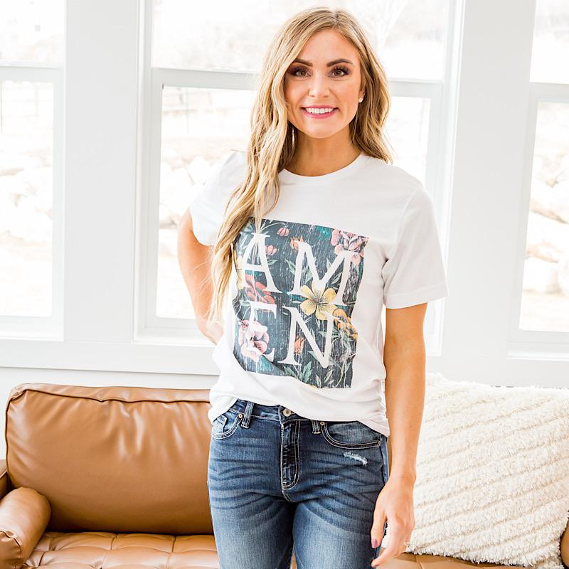 Image of Amen Floral Tee