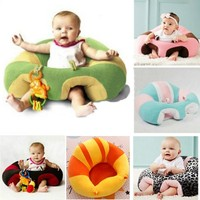 Baby Cute Support  Comfortable Seat Pillow Cushion Sofa For Baby 0-2 Years
