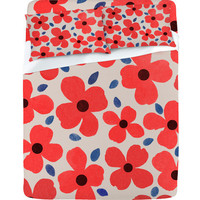 DENY Designs Home Accessories | Garima Dhawan Dogwood Red Sheet Set