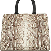 Victoria Beckham - City Victoria python and leather tote