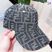 Fendi Fashion New More Letter Women Men Sun Protection Cap 1#