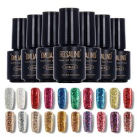 ROSALIND 7ml Diamond Glitter UV Nail Gel Polish Soak Off Led UV Gel Nail Polish Use With Base Top Gel Polish