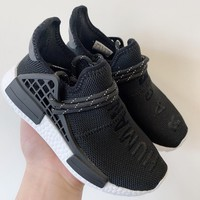 Pharrell x adidas NMD Human Race Black Toddler Kid Shoes Child Sneakers - Best Deal Online