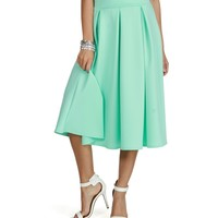 Sale-mint Pleated Midi Skirt