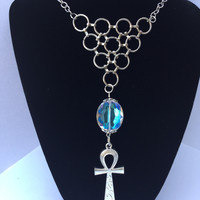 Egyptian Ankh Statement Necklace/Free Shipping