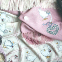 Counted Cross Stitch, Geese Design Pattern, Gertrudes Afghans, Anne Cloth Patterns, Anne Cloth Blankets, Anne Cloth Afghan,