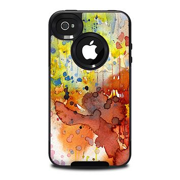 The WaterColor Grunge Setting Skin for the iPhone 4-4s OtterBox Commuter Case