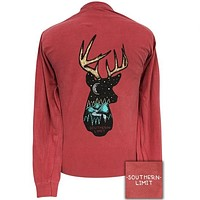 Southern Limits Deer Head Unisex Comfort Colors Long Sleeve T-Shirt
