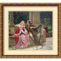 Amanti Art DSW418999 The End of the Song (Tristan and Isolde) by Edmund Blair Leighton: 21.88 x 19.88 Print Reproduction
