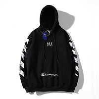 OFF-White Woman Men Hooded Top Sweater Pullover Hoodie