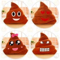 2016 Emoji Decorative Throw Pillow Cushion Home Decor For Sofa Couch Chair Toy Emotional Smile Face Doll Cushion For Living Room
