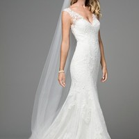 WToo by Watters Polina 18115 Tank Lace Fit & Flare Wedding Dress