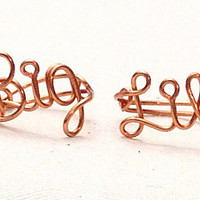 Custom Wire Big Lil (Little) Ring Set (MADE TO ORDER) Sorority Rings, Sorority Jewelry, Sisters, Customized Ring, Personalized Ring, Pledge
