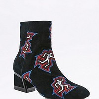 Kat Maconie Daphne Embroidered Black Suede Ankle Boots - Urban Outfitters