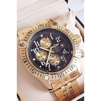 BREITLING tide brand men and women waterproof mechanical quartz watch Gold