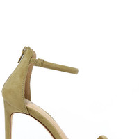 Do the Tango Olive Suede Ankle Strap Heels