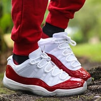 Nike Air Jordan 11 Low Cherry Sneakers Shoes