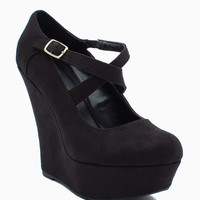 Door X Band Mary Jane Wedge