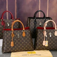 """Louis Vuitton"" Fashion Multicolor Classic Retro Logo Single Shoulder Bag Women Large Capacity Handbag Tote Bag"