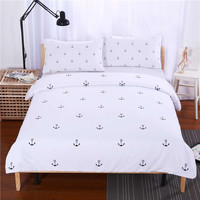SleepWish Anchors Bedding Set Plain Printed Bedlinen Soft Home Textiles Twin Full Queen King Bedspread couvre lit Limited