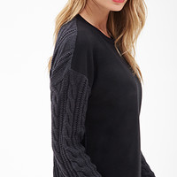 LOVE 21 Remixed Cable Knit Pullover