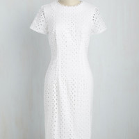 Eyelets in the Sky Dress | Mod Retro Vintage Dresses | ModCloth.com