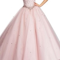Angel Bride Evening Dresses Tulle Ball Gowns Quinceanera Dresses Prom Gowns Long