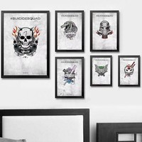 Harley Quinn - Suicide Squad Superhero Art Silk Poster Wall Art Wall Decor Silk Prints Art Poster Paintings For Living Room