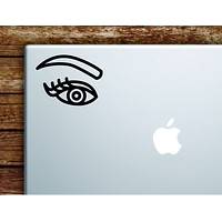 Eye Eyebrow V2 Eyelash Laptop Wall Decal Sticker Vinyl Art Quote Macbook Apple Decor Car Window Truck Teen Inspirational Girls Make Up Brows Lashes