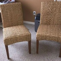 2 Like-New Pottery Barn Seagrass Side Chairs