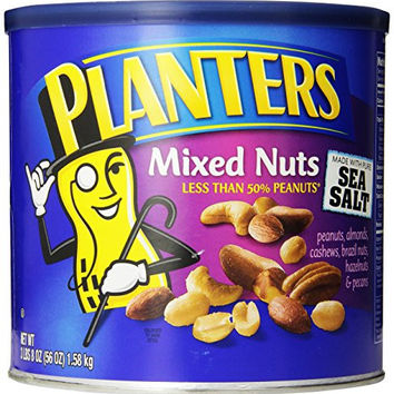 Planters Mixed Nuts With Pure Sea Salt, 56 oz. Tin