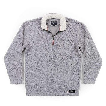 Appalachian Pile Pullover 1/4 Zip in Light Gray by Southern Marsh
