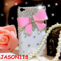 iPod Touch 4 Case Pink Bow iPod Touch 4 Case Cute Bow by jason118