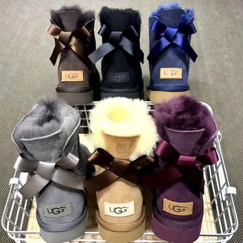 UGG plus velvet warm and comfortable tube snow boots