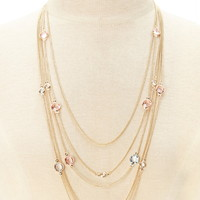 Layered Faux Gem Necklace
