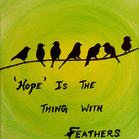 Birds on a wire art on canvas birds acrylic painting canvas art quotes on canvas motivational inspirational wall art quote silhouette decor
