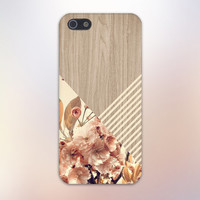 Romantic Flowers x Beige Stripes x Wood Design Case for iPhone 6 6 Plus iPhone 5 5s 5c iPhone 4 4s Samsung Galaxy s5 s4 & s3 and Note 4 3 2