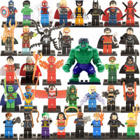 35/ 34pcs Mini DC Marvel All Super Heroes Avengers figures Building Block Assembly Child Toy Compatible with Lego Big Hulk XINH