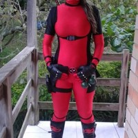 lady deadpool cosplay costume adult men women accessories for kids spandex mask movie costumes deadpool spandex suit men girl
